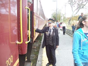 Hyannis conductor full body outside