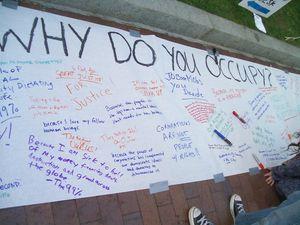 Occupy floor blackboard