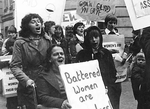 Women's liberation battered women