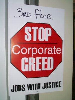 Jobs with Justice top corp greed