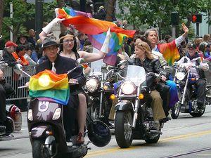 Pride dykes on bikes