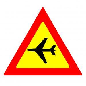 Jet blue beware airplane sign