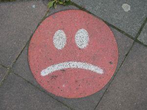 Jet blue unhappy face