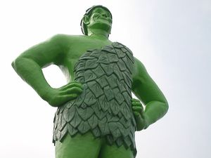 Earthquake jolly green giant