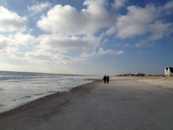 Fernandina beach S&G at the distance