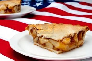 Apple pie & flag