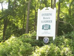 Entering Sandwich sign