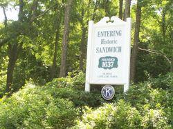 Entering Sandwich sign