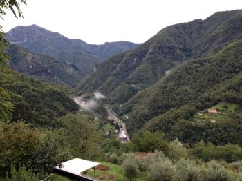 Italy view to left with fog