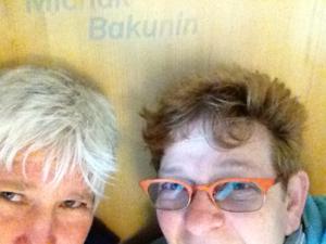Swiss Jaya and I with Bakunin