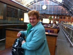 Me at St Pancras champagne bar