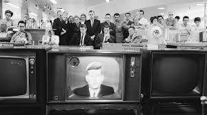 Kennedy on tv during crisis