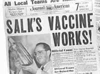 Polio vaccine works newspaper