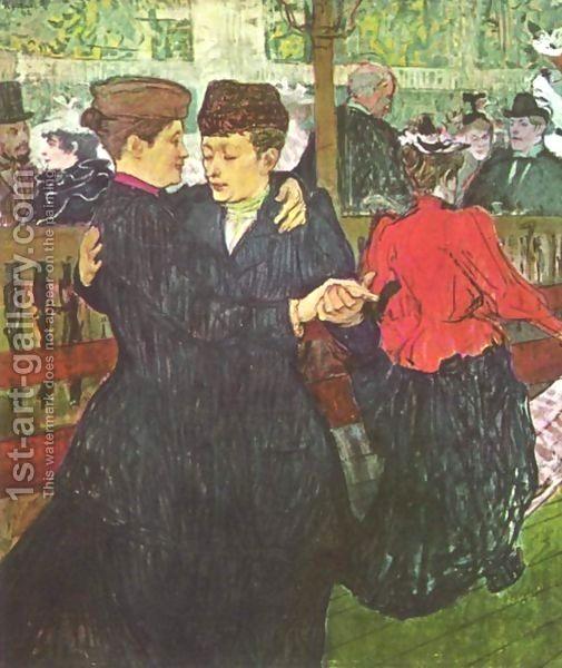 Two women dancing painting