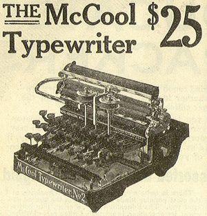 Typewriter 1909_McCool_typewriter_no._2_25_ad_detail