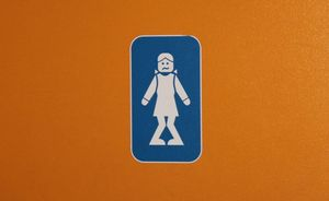 Bathroom sign need to pee