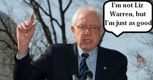 Bernie im not liz warren