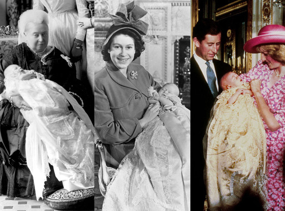 Buckingham hand-me-down christening gown
