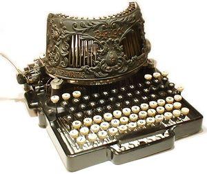 Typewriter decorative vintage