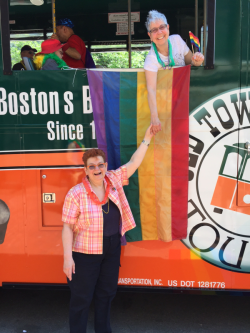 Pride 2017 trolley anne and me