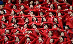 Olympics cheerleaders