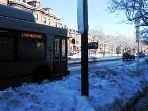 Snow bus stop