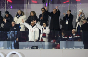 Olympics pence sitting down