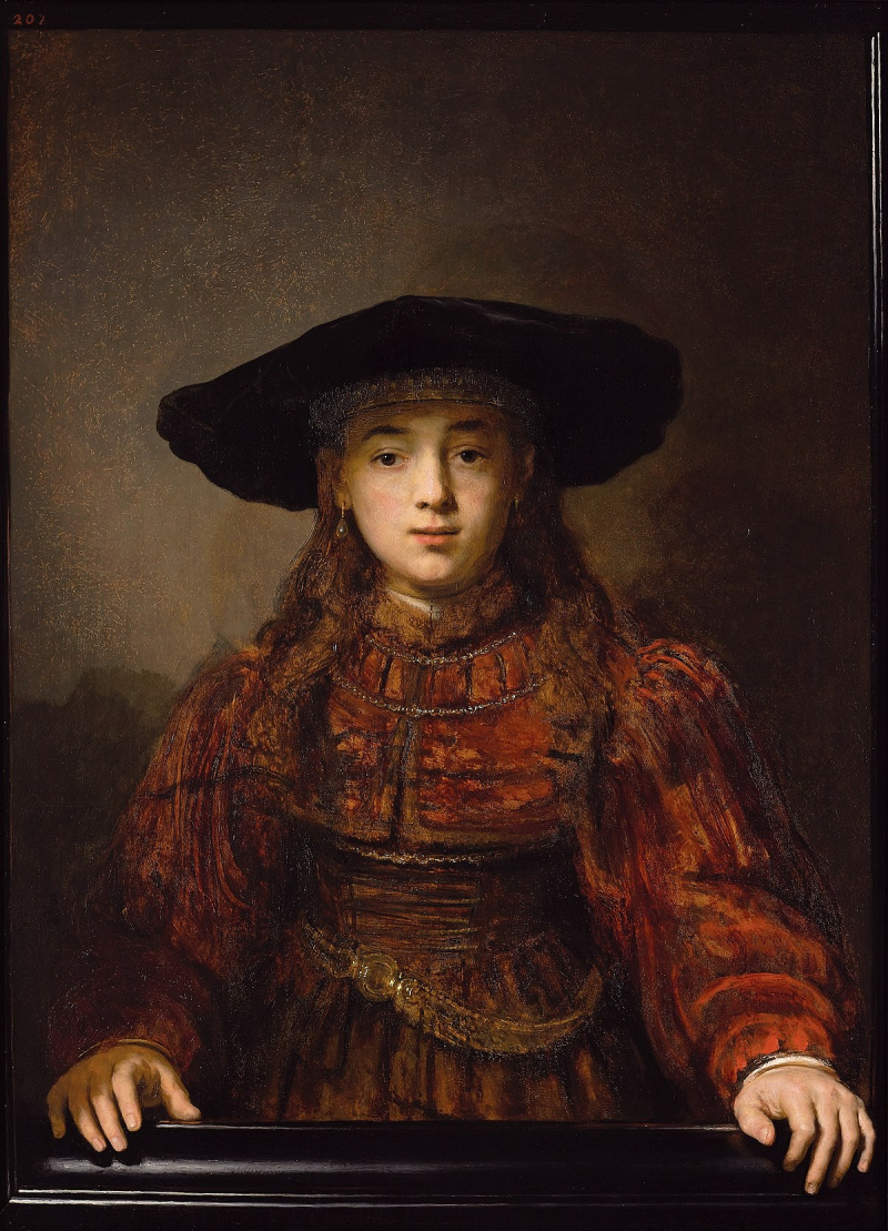 Rembrandt Jewish Girl_in_a_Picture_Frame