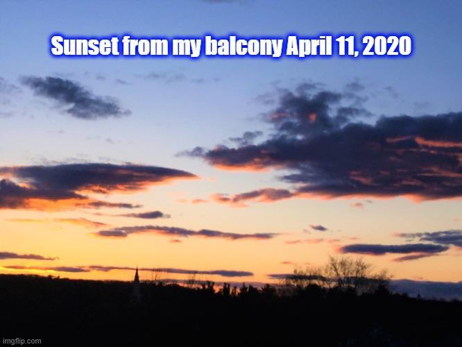 Sunset apr 11 2020