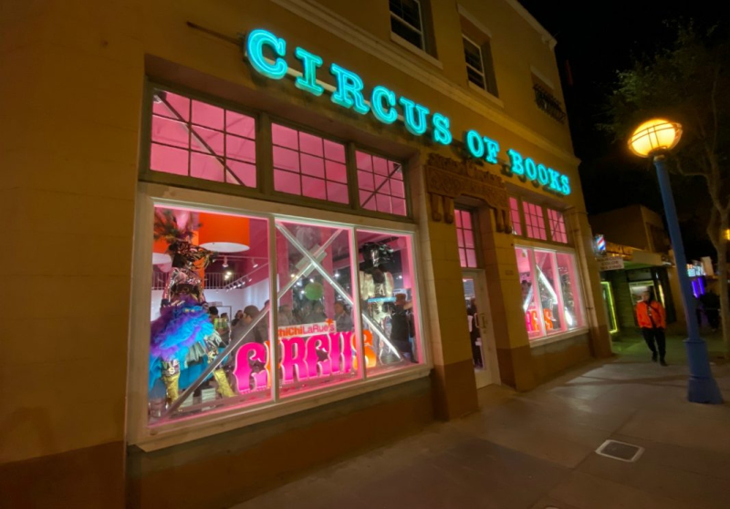 Circus bks outside store