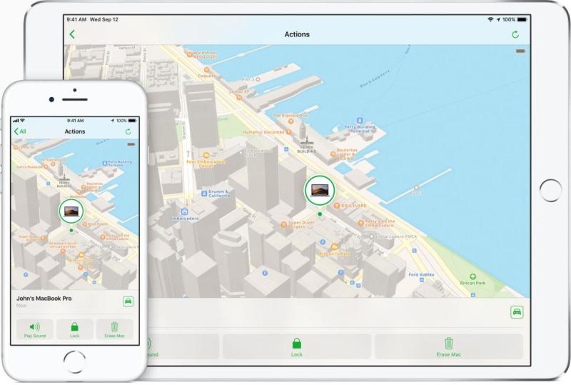 Find my iphone map closeup