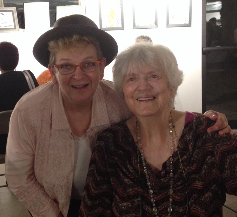 Kay Bourne and I Sept 2014