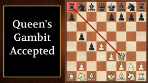 Queens gambit chessboard