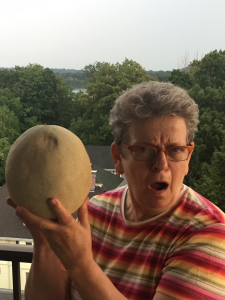 Me with Cantaloupe astonished